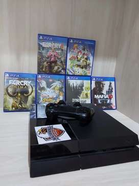 PS 4 FAT 500GB MURAH FREE KASET(no box)Lecet pemakaian normal