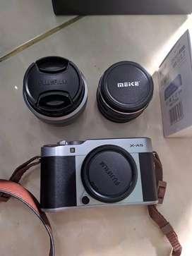 Fujifilm XA5 + Lensa Meike F 1,7 + Dry Box