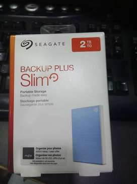 New Seagate Backup Plus Slim 2 TB External Hard Disk (Light Blue)