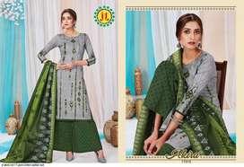 Jt akira heavy cotton dress material singlenpcs also available