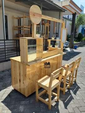Booth / Gerobak / Rombong /Duco / Meja Kursi Cafe / HPL
