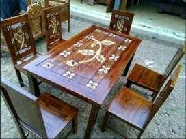 kursi makan meja trembesi