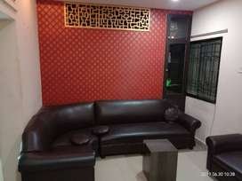 2BHK, Modular Kitchen, Central Duct, Geyser, Sofa - T Table included.