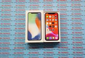 [iPhone X 256 GB Storage Good Condition Color Silver Box And Charger]