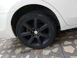 100 PCD 5 Nut 17 inches Rims & Tyres in Rs.75000