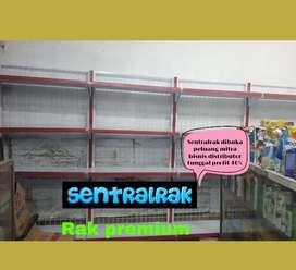 Rak gondola supermarket minimarket murah baja pabrik
