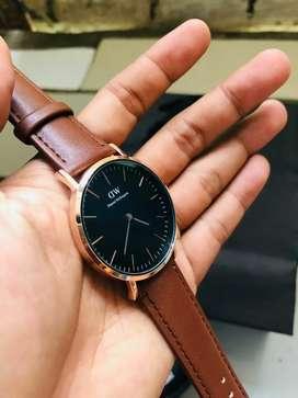 Jam tangan Danil Wellington (Coklat rose hitam)