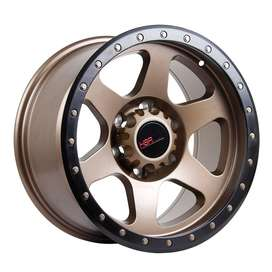 jual vlg HSR-Crag-6001-Ring-17x9-H6x1397-ET0-Semi-Matte-Bronze-Black-L