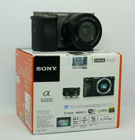 Sony A6000 + Lensa kit 16-50mm