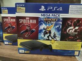 ps4 slim 1tb brand new with 16 games 1 year replacement warranty bill