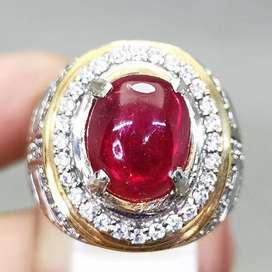 Cincin Ruby Pigeon Blood Merah Delima