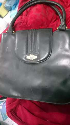 Ladies black japanese hand bag real leather bought from dubai
