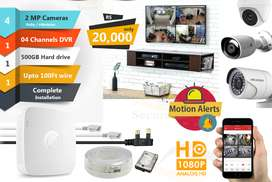 4 CCTV Cameras Package Hikvision 2 MP