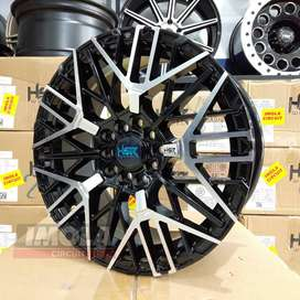 Velg mobil racing rush r16 HSR wheel baut 5x100 dan 5x114,3 Black