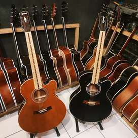 Gitar dua lapis bahan siprus