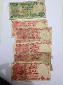 Uang kuno uang lama 6 lembar