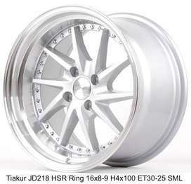 velg HSR TIAKUR JD218 HSR R16X8/9 H4x100 ET30/25 SML