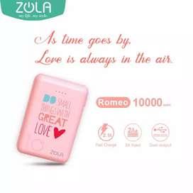 1PCS Powerbank ZOLA 10.000MAH PINK Mini Size Baru100% GARANSI 1 Tahun