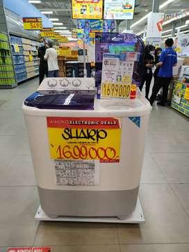 Mesin Cuci Sharp 2 tabung cicilab cepat tanpa kartu kredit
