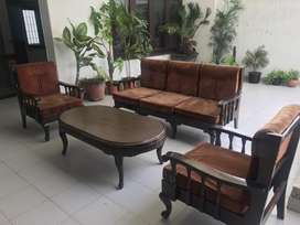 Sofa with center table