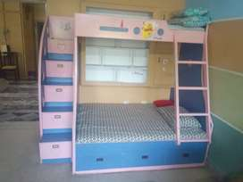 Kids bed and cupboard