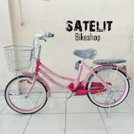 Sepeda Anak Cewek Mini JieYang Ukuran 20