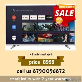 43 INCH SMART LED TV FULL HD QLED WITH 2 YEAR WARRANTY