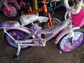 Sepeda Anak Cewe Mini Ukuran 18 Baru