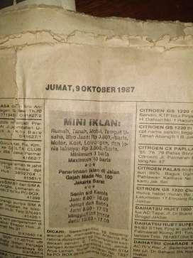 Koran pos kota tahun 1987