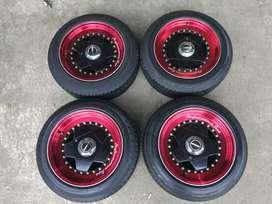 R15 Borbet Super lipz lebar 7,5_8,5 Mulus+ban 185 60 Dunlop