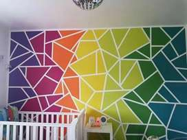 Home Decorators and arts. wallpainting