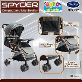 Stroller Pliko BS 297 Spyder Terbaru - Kereta Dorong Bayi Pliko Murah