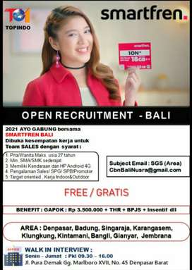 Loker Sales Marketing SPG SPB Promotor Smartfren Bali Denpasar Gianyar