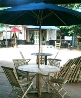 Meja payung kantin, taman, pantai, kolam, cafe, vila, resto