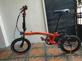 Sepeda lipat custom ala Brompton 16 plus