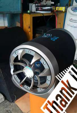 Subwoofer 10in Tabung AKTIF lengkap power nya bosku