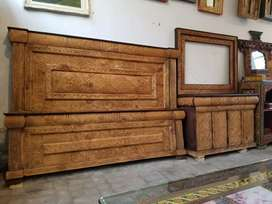 Swati wooden carved bed