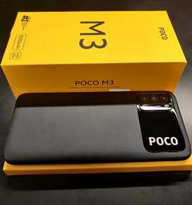 Poco M3 6GB ram 128GB rom with invoice box , accessories available