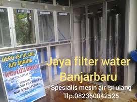 Pemasangan baru mesin air isi ulang galon