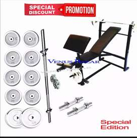 26kg weight multi position bunch press 5ft rod bycep curl exercise gym