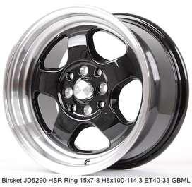 Birsket JD5290 HSR Ring 15x7-8 Hole 8x100-114,3 ET 40 33 Gloss Black