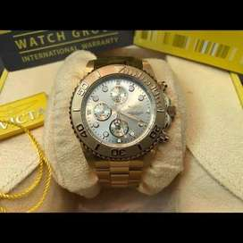 Gold plated watch invicta