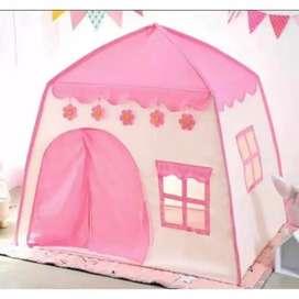 Tenda Anak Model Rumah Warna Pink