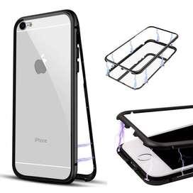 Magnetic 2in1 glass case iPhone 6Plus Bening Transparan 360Derajat