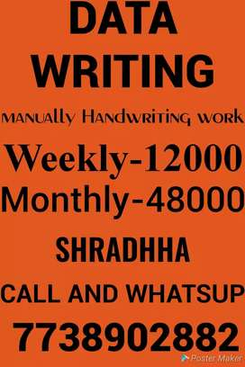 Home based easy work monthly 52,000