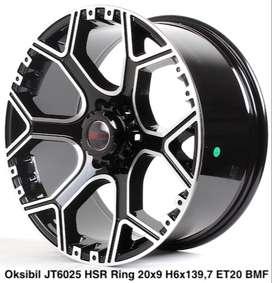 jual velg,OKSIBIL JT6025 HSR R20X9 H6X139,7 ET20 BMF