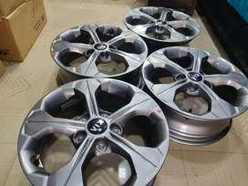"16"" kia Seltos gunmetal grey oem alloys set of 4 lite used"
