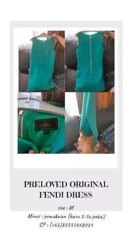 PRELOVED DRESS KONDISI 99% MASIH BUAGUS. BRANDED MERK FENDI