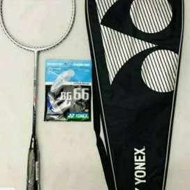 Raket badminton YONEX VOLTRIC 100 LCW Free + senar BG 66 + Tas ID83