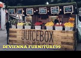 Booth Container box juice . Semi Container. Box jualan custom.